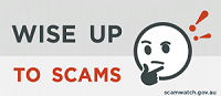 wise up to scams logo